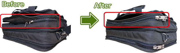 鞄のファスナー修理