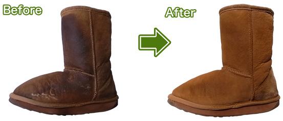 UGGのブーツのシミ