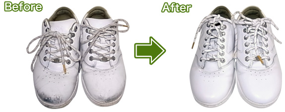 靴クリーニングと補色