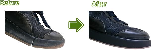 靴修理(ルイヴィトンスニーカーのソール交換)