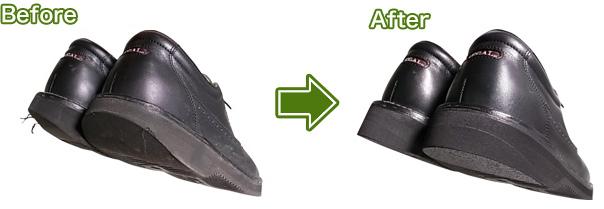 靴修理(リーガルウォーカーのかかと補修)