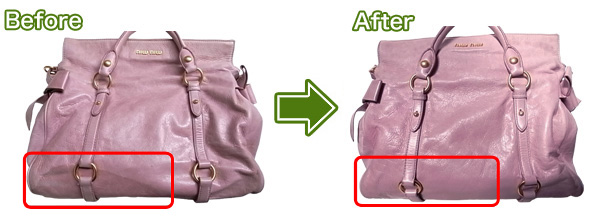 miumiuのバッグのシミ