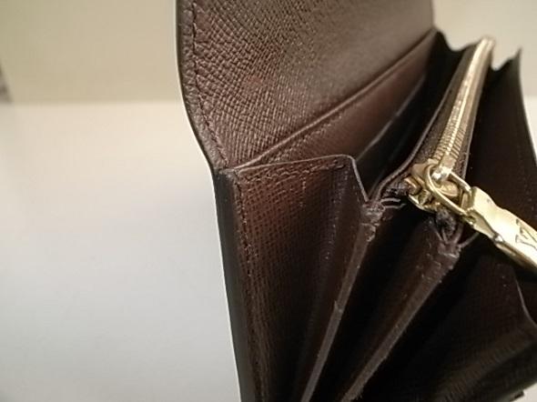 ルイヴィトン財布の裂け修理後