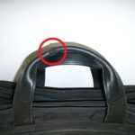 TUMIの持ち手の革修理