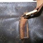 ヴィトンのバッグの持ち手修理-作業前