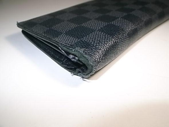 ルイヴィトンの財布修理-before
