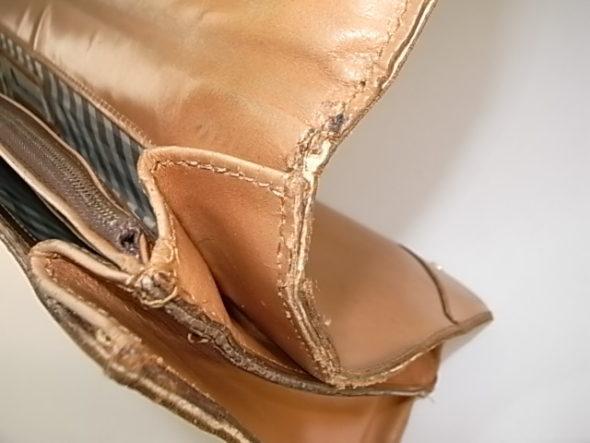 鞄のフタの付け根修理-作業後