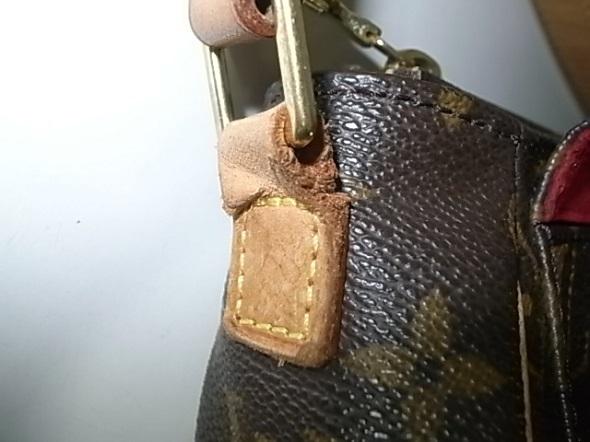 ルイヴィトンのヌメ革修理