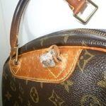 修理前のバッグ