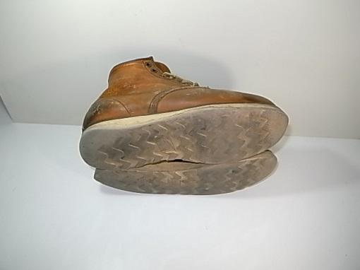 ブーツのソールの減り
