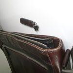 革鞄のファスナー修理