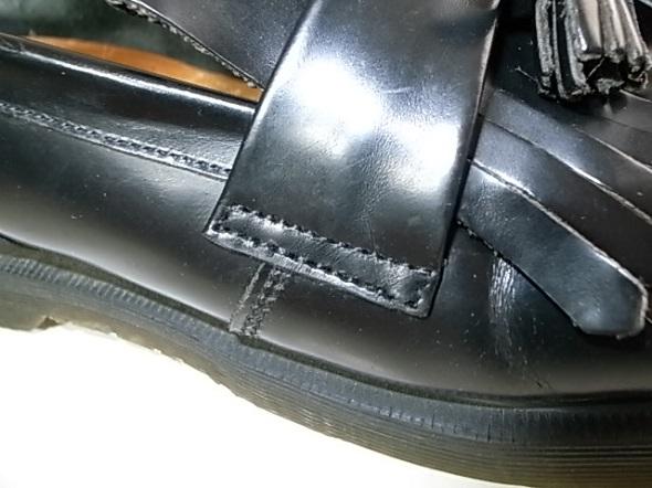靴の修理した部分