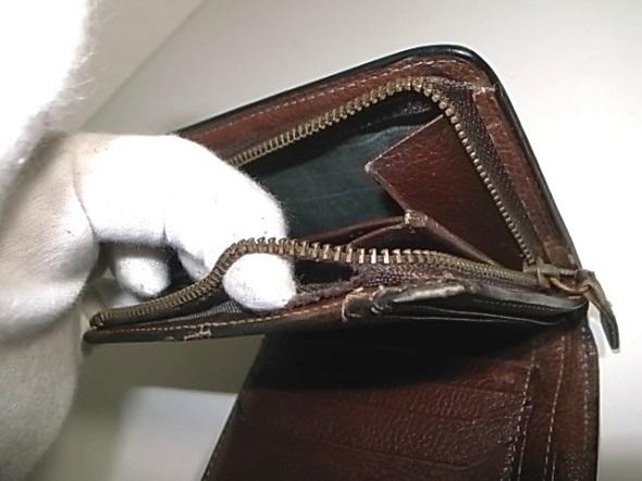 財布のファスナーの壊れ
