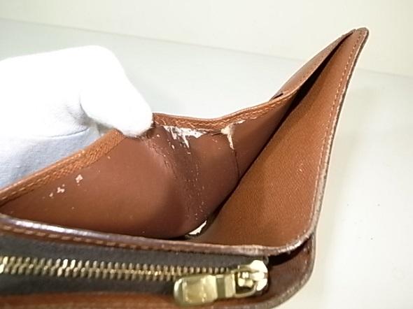ルイヴィトン財布の内張り劣化