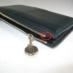 財布のファスナーパーツ修理