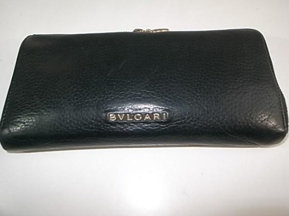 ブルガリの黒い長財布