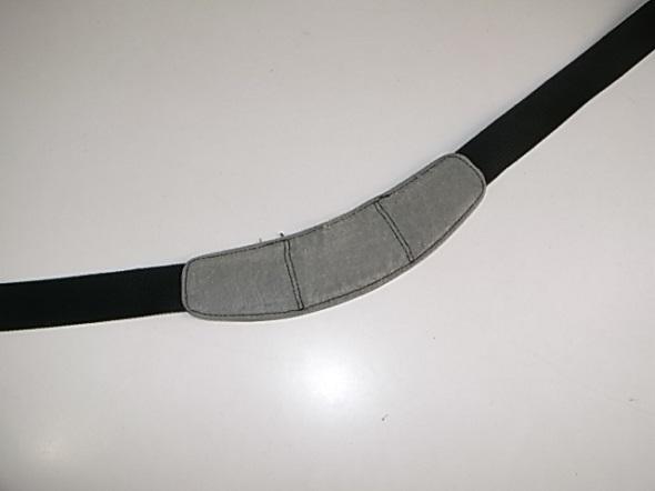 TUMIの肩パッド内側修理