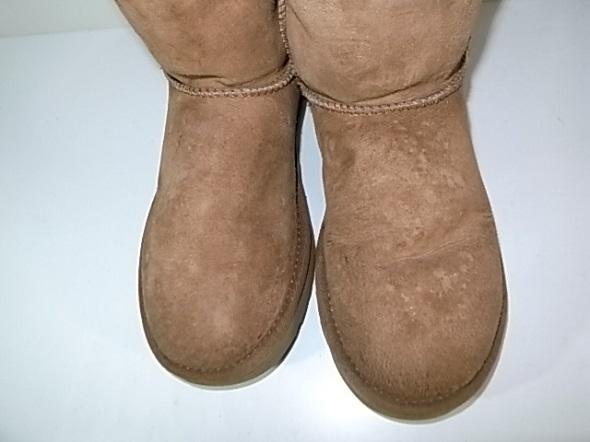 ブーツにできたシミ