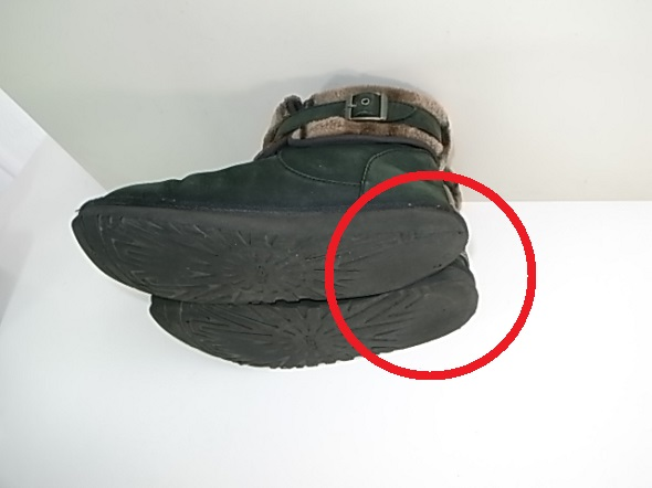 ブーツのかかと修理